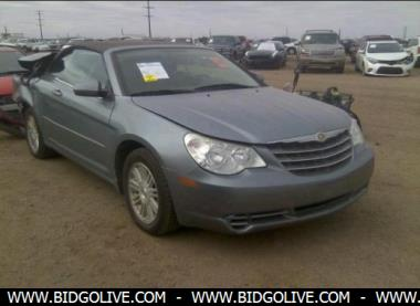2008 chrysler sebring touring convertible for sale at iaa insurance auctions bidgolive blog. Black Bedroom Furniture Sets. Home Design Ideas
