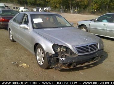 Buy Online Used 2002 Mercedes Benz S500 Sedan For Auction At