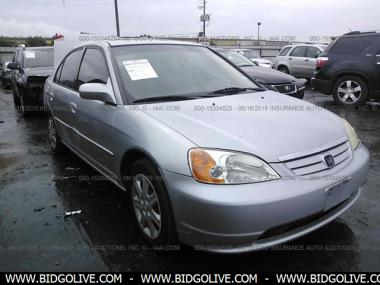 used 2003 honda civic ex with front side airbags sedan 4 door car from iaa auto auction. Black Bedroom Furniture Sets. Home Design Ideas