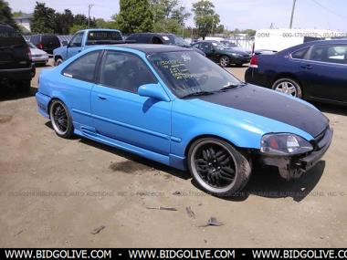 used 1999 honda civic ex coupe car from iaa auto auction. Black Bedroom Furniture Sets. Home Design Ideas