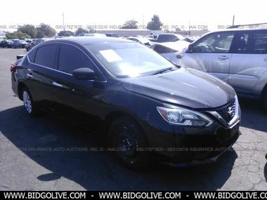 used 2016 nissan sentra s sl sr fe sedan 4 door car from iaa auto auction bidgolive blog. Black Bedroom Furniture Sets. Home Design Ideas